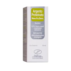 New Fa.Dem. - Argento Proteinato Bambini 0,5% Gocce Nasali e Auricolari Confezione 10 Ml