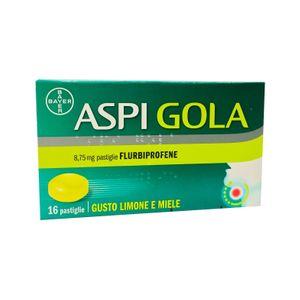 Aspi Gola - Gusto Limone e Miele Confezione 16 Pastiglie (Scadenza Prodotto 30/09/2021)