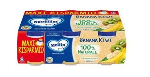 Mellin - Omogeneizzato Banana/Kiwi Confezione 6X100 Gr