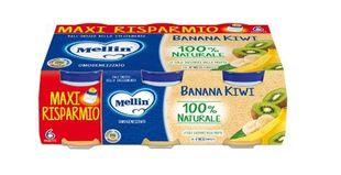 Mellin - Omogeneizzato Banana/Kiwi Confezione 6X100 Gr (Scadenza Prodotto 18/12/2021)