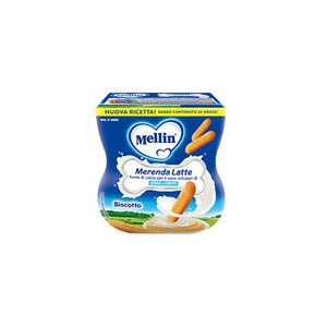 Mellin - Merenda Latte e Biscotti Confezione 2X100 Gr (Scadenza Prodotto 04/01/2021)