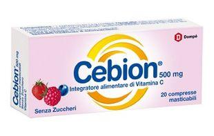 Cebion - Masticabile Senza Zucchero Vitamina C 500 Mg Confezione 20 Compresse