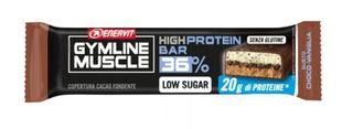 Enervit - Gymline Muscle High Protein Barretta 36% Gusto Cioccolato e Vaniglia Confezione 55 Gr