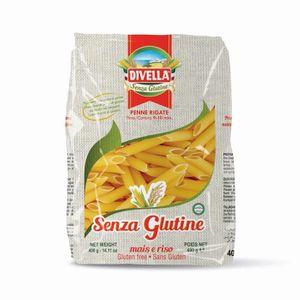 Divella - Penne Rigate Pasta Senza Glutine Confezione 400 Gr