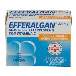 Efferalgan - Effervescente 330+200 Mg Confezione 20 Compresse  (Scadenza Prodotto 28/12/2021)