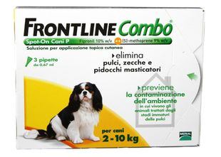 Frontline Combo - Spot-On Cani P (2-10kg) - 3 pipette 0,67 ml