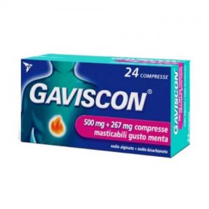 Gaviscon - 500+267 Mg Gusto Menta Confezione 24 Compresse