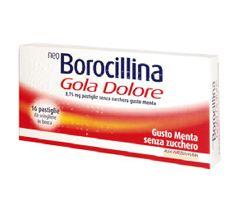 Neoborocillina - Gola Dolore Senza Zucchero Gusto Menta Confezione 16 Pastiglie
