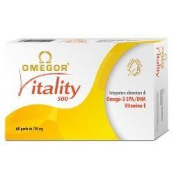Omegor - Vitality 500 Integratore Omega 3 Confezione 60 Perle