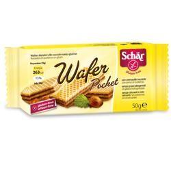 Schar - Wafer Pocket alla Nocciola Senza Glutine Confezione 50 Gr