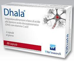 Dhala - Integratore Per La Funzione Cerebrale e Della Capacità Visiva Confezione 20 Compresse
