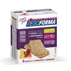 Pesoforma - Sandwich Al Prosciutto e Formaggio Confezione 8 Sandwich