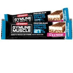 Enervit - Gymline Muscle Protein Barretta 27% Doppio Strato Gusto Cocco Confezione 1 Pezzo  (Scadenza Prodotto 24/10/2020)