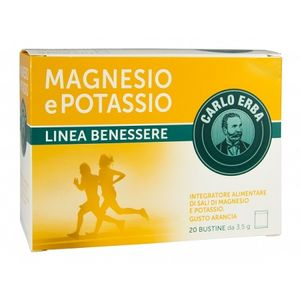 Carlo Erba - Integratore Magnesio e Potassio Gusto Arancia Confezione 20 Bustine