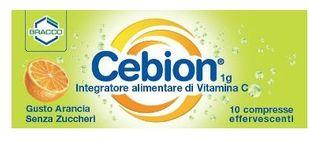 Cebion- Effervescente Vitamina C Senza Zucchero Confezione 10 Compresse