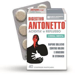 Digestivo Antonetto - Acidità e Reflusso Caramella Alla Menta Confezione 40 Compresse