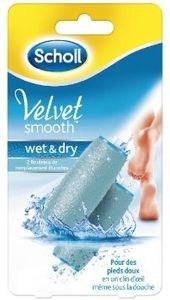 Scholl - Velvet Smooth Wet and Dry Ricaricabile Confezione 2 Pezzi