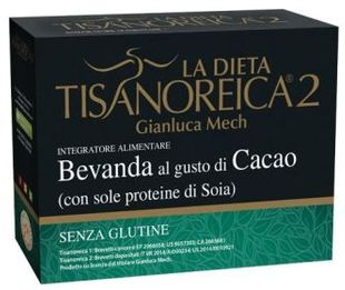 Tisanoreica - Bevanda al gusto di Cacao (con sole proteine di Soia) 4 Preparati Confezione 4X30 Gr