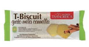 Tisanoreica - T-Biscuit Gusto Mela Cannella Confezione 50 Gr