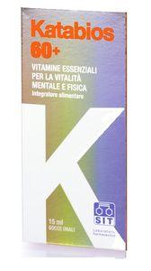 Katabios 60+ - Integratore Alimentare per la Vitalità Mentale e Fisica Gocce 15 Ml (Scadenza Prodotto 28/10/2020)
