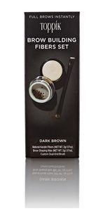 Toppik - Brow Building Fibres Set Dark Brown 2 Gr