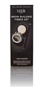 Toppik - Brow Building Fibres Set Dark Brown 2 Gr