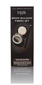 Toppik - Brow Building Fibers Set Med Brown Confezione 2 Gr
