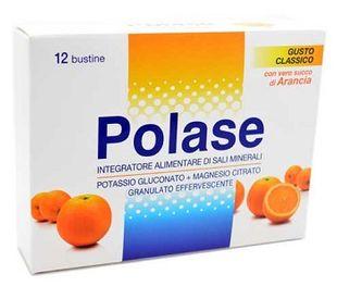 Polase - Integratore di Sali Minerali Gusto Arancia Confezione 12 Bustine Effervescenti