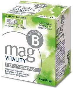 Mag - Vitality Integratore Magnesio Per Stress Psicofisico Confezione 30 Bustine
