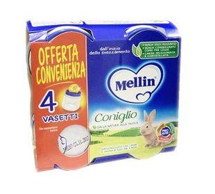 Mellin - Omogeneizzato Coniglio Confezione 4X80 Gr