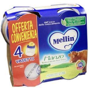 Mellin - Omogeneizzato Manzo Confezione 4X80 Gr