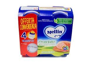 Mellin - Omogeneizzato Prosciutto Confezione 4X80 Gr