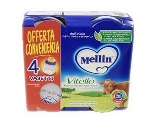 Mellin - Omogeneizzato Vitello Confezione 4X80 Gr