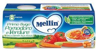 Mellin - Primo Sugo Pomodoro e Verdure Confezione  2X80 Gr