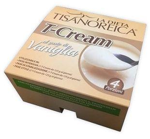 Tisanoreica - T-Cream Vaniglia Intensiva Confezione 4x125 Gr