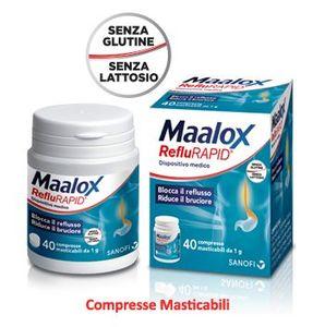 Maalox - Reflurapid Reflusso Gastro-Esofageo Confezione 40 Compresse Senza Glutine