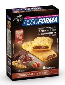 Pesoforma - Biscotto Cioccolato E Nocciola Confezione 12 Biscotti