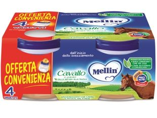 Mellin - Omogeneizzato Cavallo E Patate Confezione  4x80 Gr