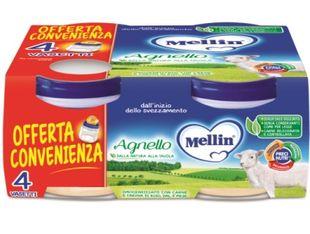 Mellin - Omogeneizzato Con Carne Di Agnello Confezione 4X80 Gr