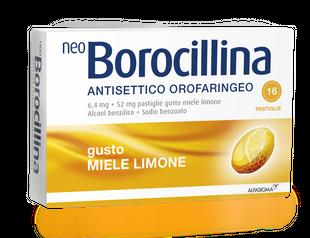 Neoborocillina - Antisettico Orofaringeo  Limone E Miele Confezione 16 Pastiglie
