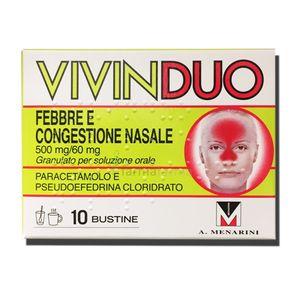 Vivinduo -  Febbre Decongestionante Naso Confezione 10 Bustine