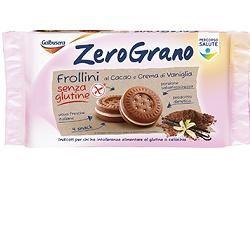 Galbusera - Zerograno Frollini Cacao e Crema Vaniglia Senza Glutine Confezione 160 Gr