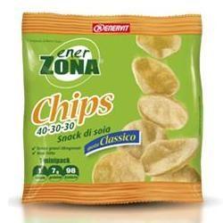 Enervit - Enerzona Chips 40-30-30 Classico Snack di Soia Confezione 23 Gr (Scadenza Prodotto 23/12/2020)