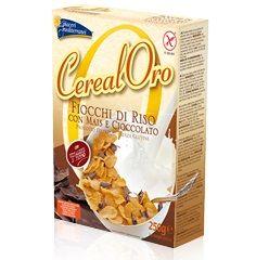 Piaceri Mediterranei - Cereal Oro Fiocchi di Riso Con Mais e Cioccolato Senza Glutine Confezione  250 Gr