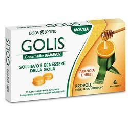 Body Spring - Golis Arancia/Miele Confezione 15 Caramelle (Scadenza Prodotto 28/07/2021)