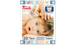 Trudi - Baby Care Telino 60X60 Cm Confezione 10 Pezzi