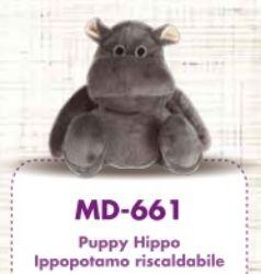 Puppy - Peluche Ippopotamo Riscaldabile