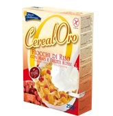 Piaceri Mediterranei - Cereal Oro Fiocchi Di Riso Con Mais e Frutti Rossi Senza Glutine Confezione 250 Gr