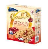 Piaceri Mediterranei - Cereal Oro Barrette di Riso Con Mais e Frutti Di Bosco Senza Glutine Confezione 129 Gr