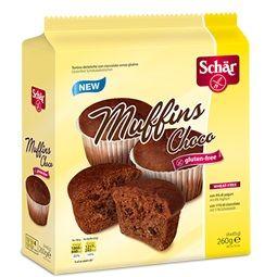 Schar -  Muffins Choco Tortine Al Cioccolato Senza Glutine Confezione 260 Gr (Scadenza Prodotto 12/03/2021)